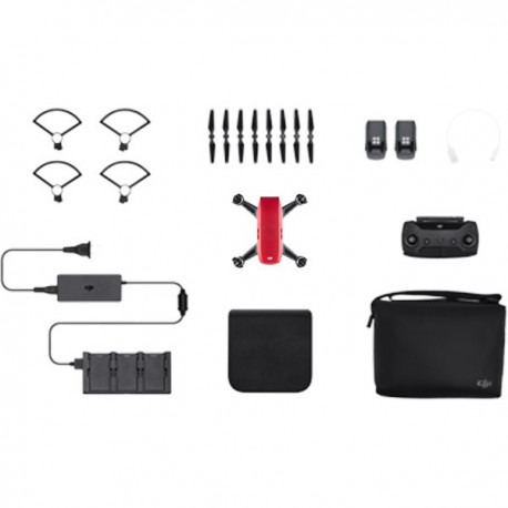 Drona-DJI Spark - Fly More Combo - Lava Red